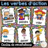 Les verbes d'action - Cartes de vocabulaire - French Action Verbs