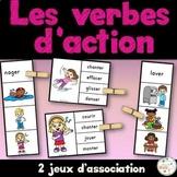 Les verbes d'action - Ensemble jeux d'association - French Action Verbs - Bundle