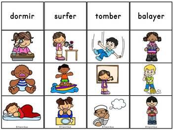 Les verbes d'action - Jeu d'association #2 - French Action Verbs