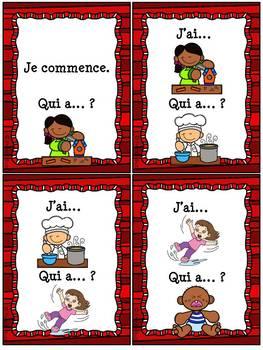 """Les verbes d'action - Jeu """"j'ai... qui a...?"""" - French Action Verbs"""