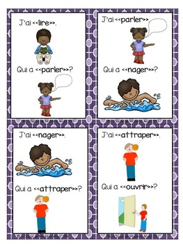 Les verbes d'action:  Action Verb Activities in French