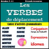 Les verbes de déplacement - Cahier d'Activités Grammaticales (NO PREP)