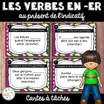 Les verbes du premier groupe (en er) - Cartes à tâches - F
