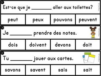 Les verbes du troisième groupe (-oir) - jeu d'association - French Verbs