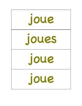 Les verbes en -er au présent de l'indicatif.