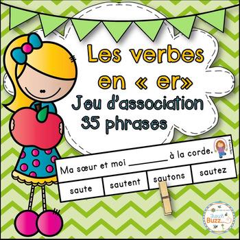 """Les verbes en """"-er"""" (premier groupe) - jeu d'association"""
