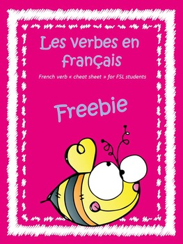 Les verbes en français - verb conjugation cheat sheet