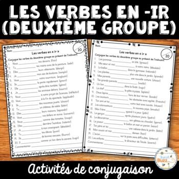 """Les verbes en """"ir"""" (deuxième groupe) - activités"""