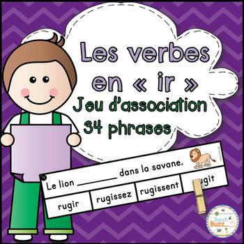 """Les verbes en """"-ir"""" (deuxième groupe) - jeu d'association"""