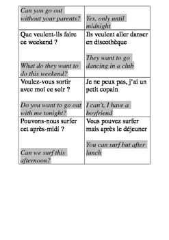 Les verbes en oir -modal verbs