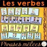 """Les verbes être, avoir, aller, en """"er"""" - Ensemble phrases mêlées"""
