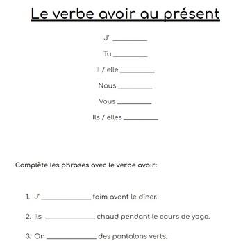 Être Et Avoir Worksheets & Teaching Resources   TpT