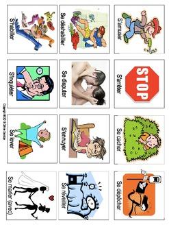 """Les verbes illustrés en francais - LES VERBES AVEC """"SE"""" (pronominaux)"""