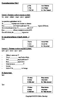 Les verbes illustrés en francais - LES VERBES EN IR + EXERCICES