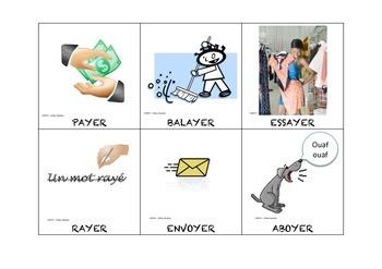 Les verbes illustrés en YER