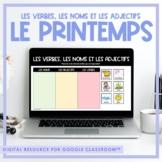 FRENCH Spring - Les verbes, les noms et les adjectifs - Di