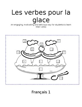 French Verbs - Les verbes pour la glace (Ice Cream Verbs), Level 1