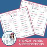Verbes français + préposition À / DE