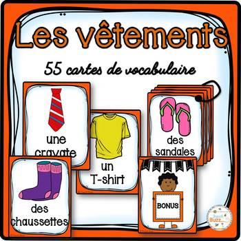 Les vêtements - Cartes de vocabulaire - French clothing