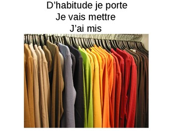 Les vetements / Clothes / Items of clothing / Colours / Adjectives