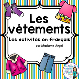 Les vêtements:  Clothing Themed Vocabulary Activities in French