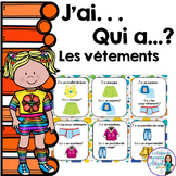 Les vêtements:  Clothing Themed Vocabulary Game in French