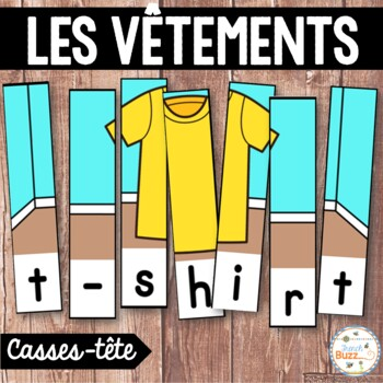 Les vêtements - French clothing - 34 puzzles