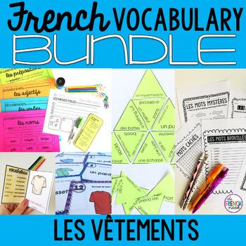 Les vêtements French clothing vocabulary BUNDLE