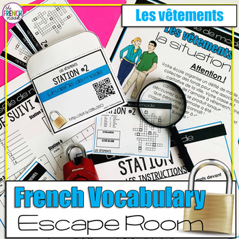 graphic about Free Printable Escape Room Kit Pdf referred to as Vocabulary Escape Area Worksheets Schooling Materials TpT