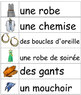 Les vêtements - French vocabulary word wall cards