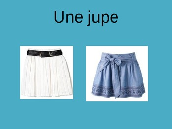 Les vêtements PowerPoint French Clothing Vocabulary PPT