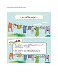 Les vêtements - Powerpoint / games / lessons