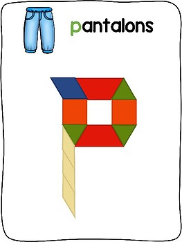 Les vetements d'hiver - French - Pattern block activity mats