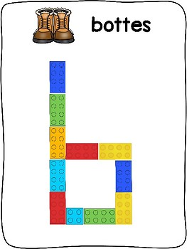 Les vetements d'hiver - French - Plastic building block activity mats