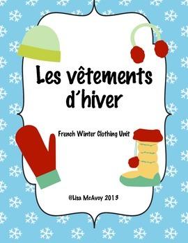 Les v tements d 39 hiver french winter clothes unit by lisa - Les vetements d hiver ...