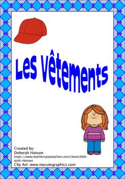 French - Clothing and ER verbs (Les vêtements et les verbes en ER)