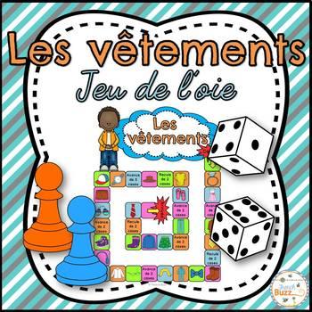 Les vêtements - jeu de société - French Clothing game