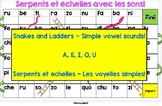 Les voyelles  - Snakes and Ladders  - French Vowel Sounds