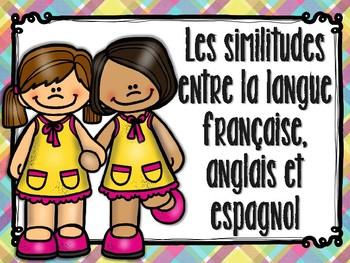 Les similitudes entre la langue française, anglais et espa