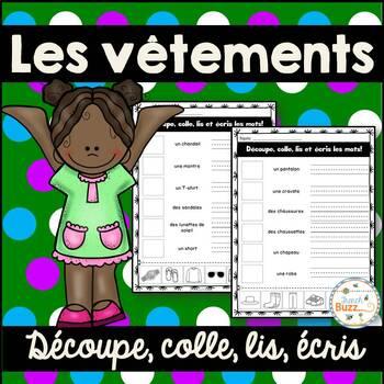 Les vêtements - Découpe et colle - French Clothing
