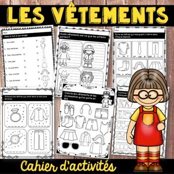 Les vêtements - cahier d'activités de l'élève - French clothing