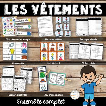 Les vêtements - Ensemble complet/ French clothing bundle