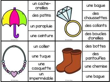 Les vêtements - jeu d'association - mots / French Clothing