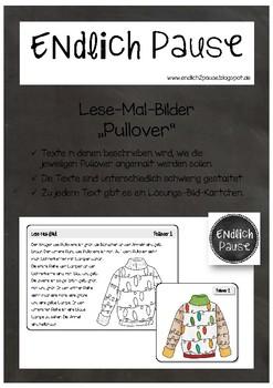 """Lese-Mal-Bilder """"Pullover"""""""