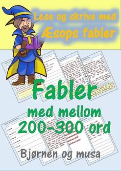 Lese og skrive med Æsops fabler: Bjørnen og musa