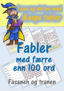 Lese og skrive med Æsops fabler: Fasanen og tranen.