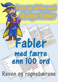 Lese og skrive med Æsops fabler: Reven og rognebærene