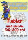Lese og skrive med Æsops fabler: Hesten, hjorten og bonden