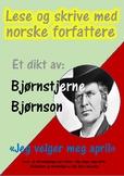 """Lese og skrive med dikt av Norske Forfattere: """"Jeg velger meg april."""""""
