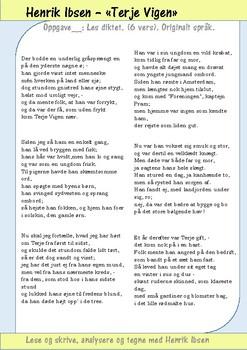"""Lese og skrive med dikt av Norske Forfattere: """"Terje Vigen"""" av Henrik Ibsen"""